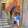 "Mario Kathy & David in my favorite ""angolo"" of Tellaro."