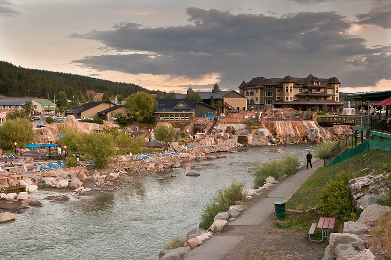 The hot springs of Pagosa Springs, Colorado.