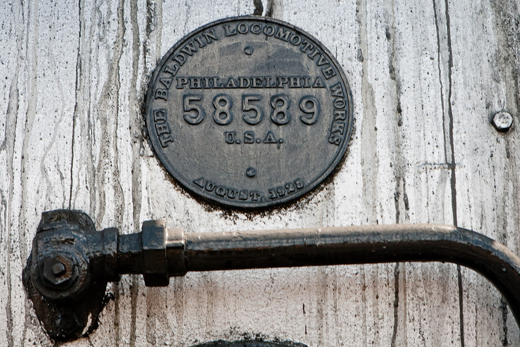 The plate on the boiler of the locomotive 488, testifies this engine was built in1925 by the Baldwin Locomotive Works in Philadelphia. <br /> The Cumbres and Toltec Scenic Railroad (C&TS).