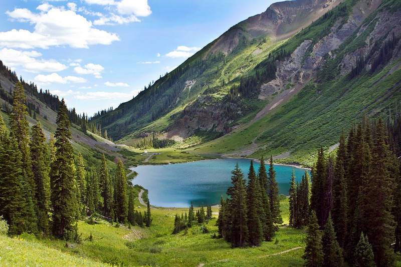 Emerald Lake, near Scofield Pass, elevation 10,700'. Day trip from Crested Butte.