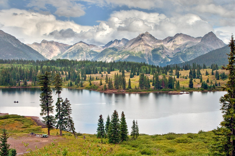 Molas Lake Park and Campground, established in 1925, just south of Silverton.