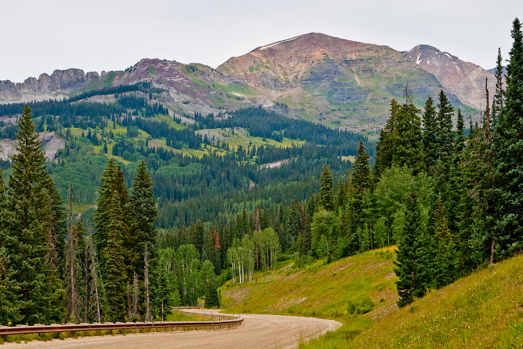Kebler Pass road, leaving Crested Butte.