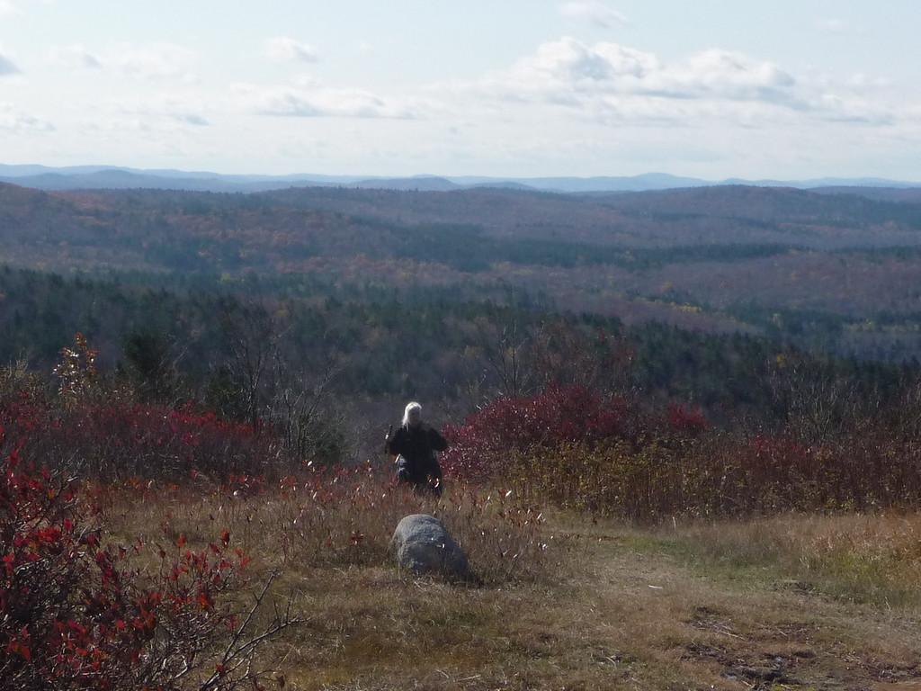 Carla reaching the summit of Jackson Mt.