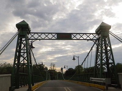 The Riegelsville Bridge, it is a Roebling Bridge built in 1904