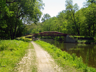 One of the iconic bridges crossing the Delaware Canal