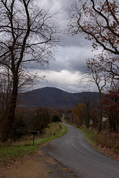Winding rural road