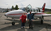 Jan with our pilot and aircraft for the McKinley high altitude adventure.
