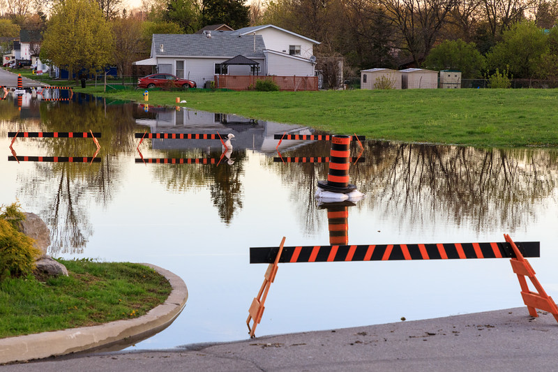 Water at intersection of South John STreet and Harbour Street in Belleville. 2017 May 11th.