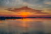 Sunrise down the Bay of Quinte from the Norris Whitney Bridge. HDR efx graduated 2.