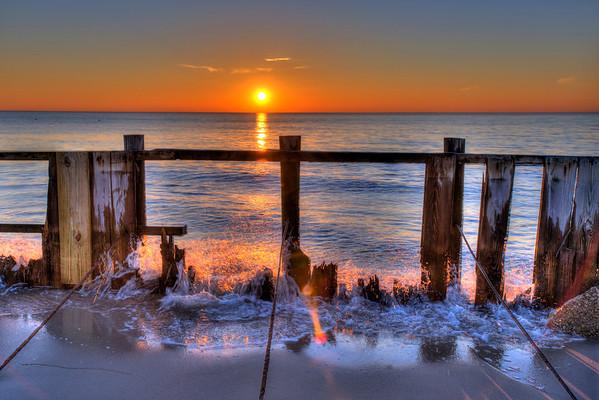 """""""Sandy"""" Sunset on the Delaware Bay Shore"""