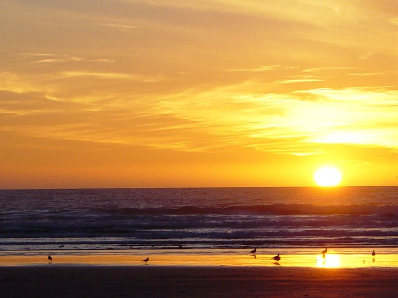 A tantalizing sunset just off of California's Pismo Beach.