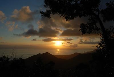 Sunset from Palehua, Waianae, Oahu August 14, 2008