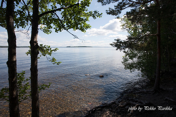 View from Pälkäne, one of the biggest lakes in Finland.