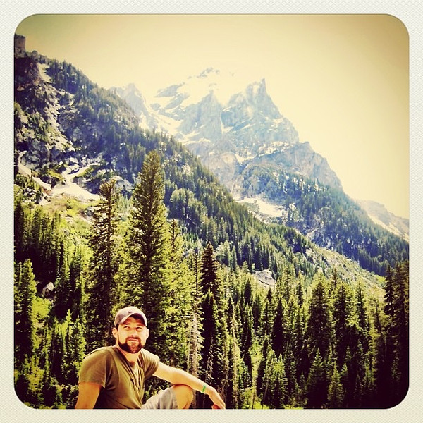 Photographer Bryce Lafoon in Teton National Park