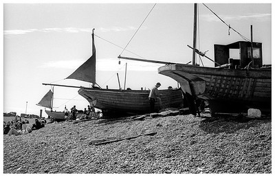 Hastings: Fishing Boats on the Foreshore