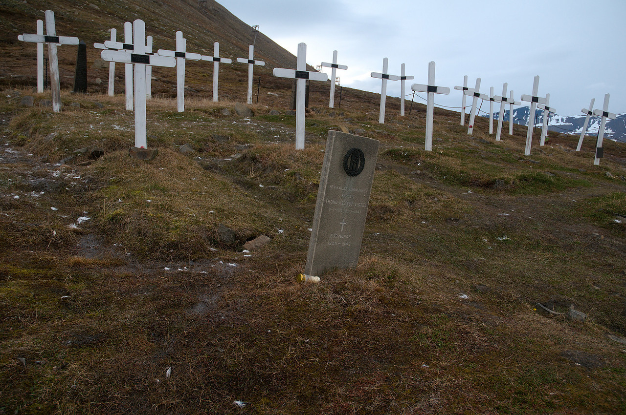 The graves of the 26 miners killed in the 1920 explosion, and soldiers killed in the 1943 fighting.