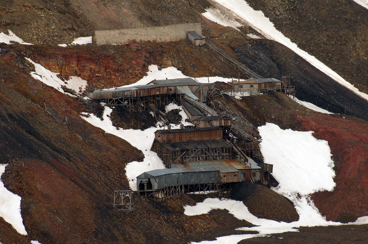 """A close up of the abandoned Mine 2b, also known as """"The Santa Mine""""."""
