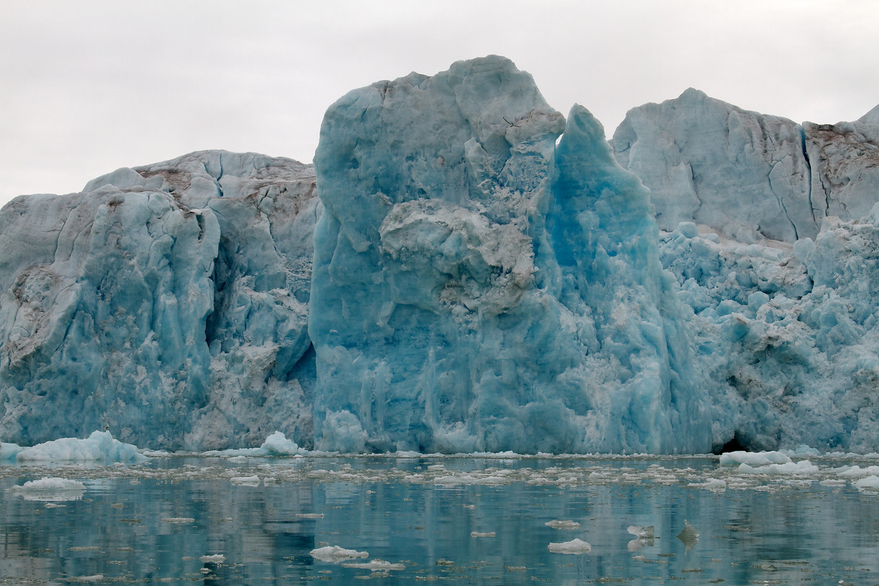glacier face close up