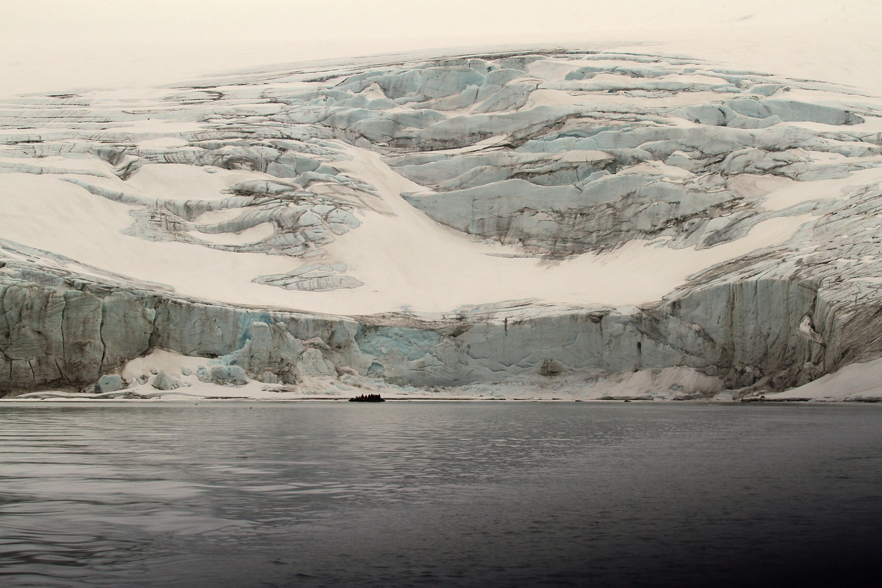 perspective on a glacier