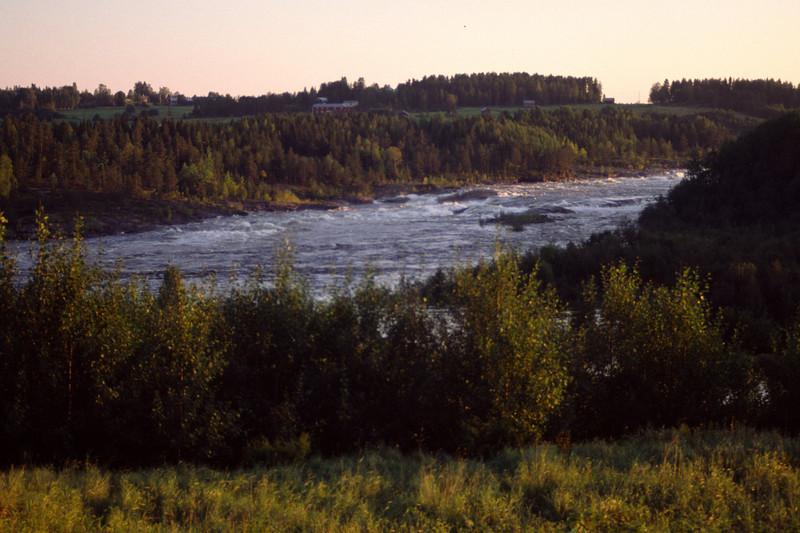 Ume älv at Norrfors, northwest of Umeå
