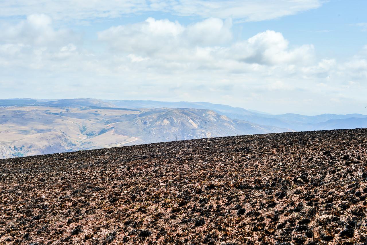 Scorched Landscape in Hhohho, Swaziland outside of Ngwenya Iron Ore Mine.