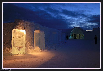 Main entrace, Ice Hotel 2008