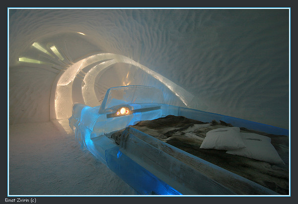 The Retro Suite, Ice Hotel 2011<br /> The car is actually the bed
