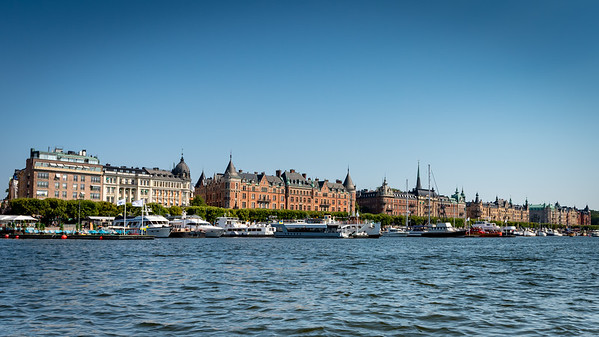 Stockholm July 2018, Øster Malm Sea Front.