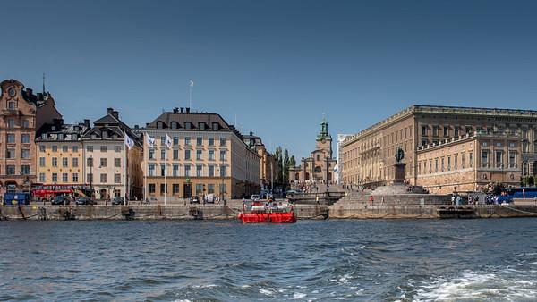 Stockholm July 2018. Storkyrkan Stocholms Slott