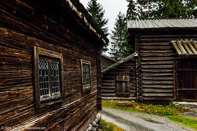 Traditional farm houses at Skansen