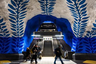 T-Centralen metro art