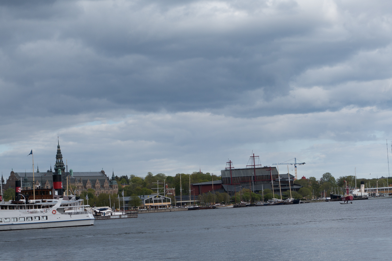 A closer view of the Nordic Museum and the Vasa Museum.