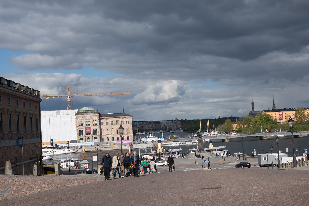Looking out from Gamla Stan onto the neighboring island.