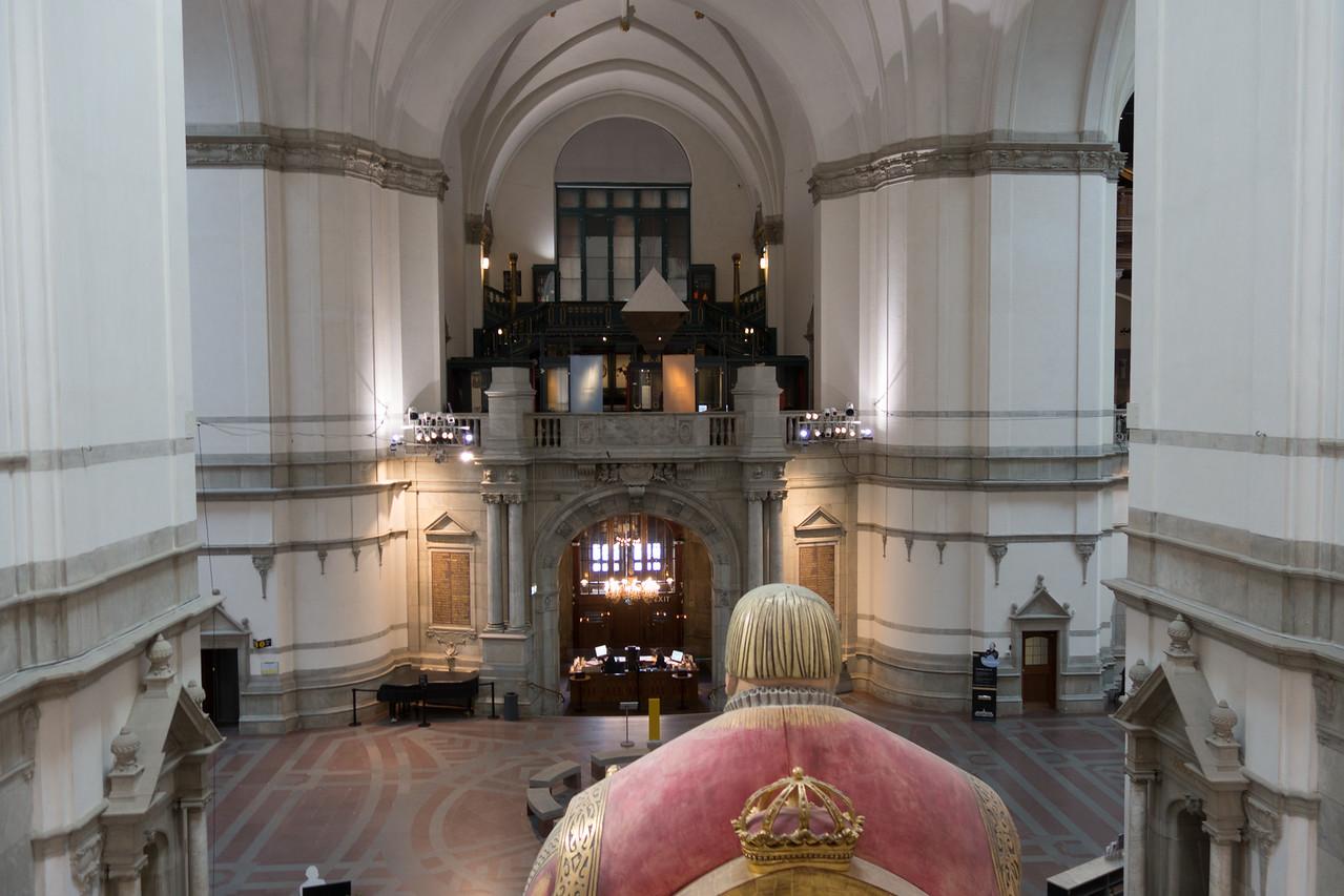 The back of King Gustav Vasa's head.