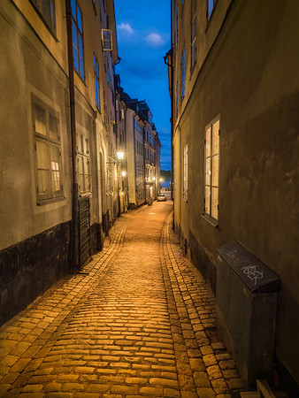 Empty Alley of Gamla Stan