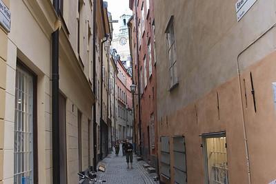Narrow laneway, Gamla stan (old city) Stockholm