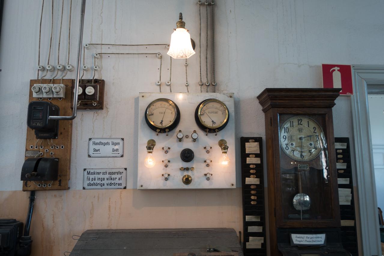 This was an engineering workshop at Skansen.