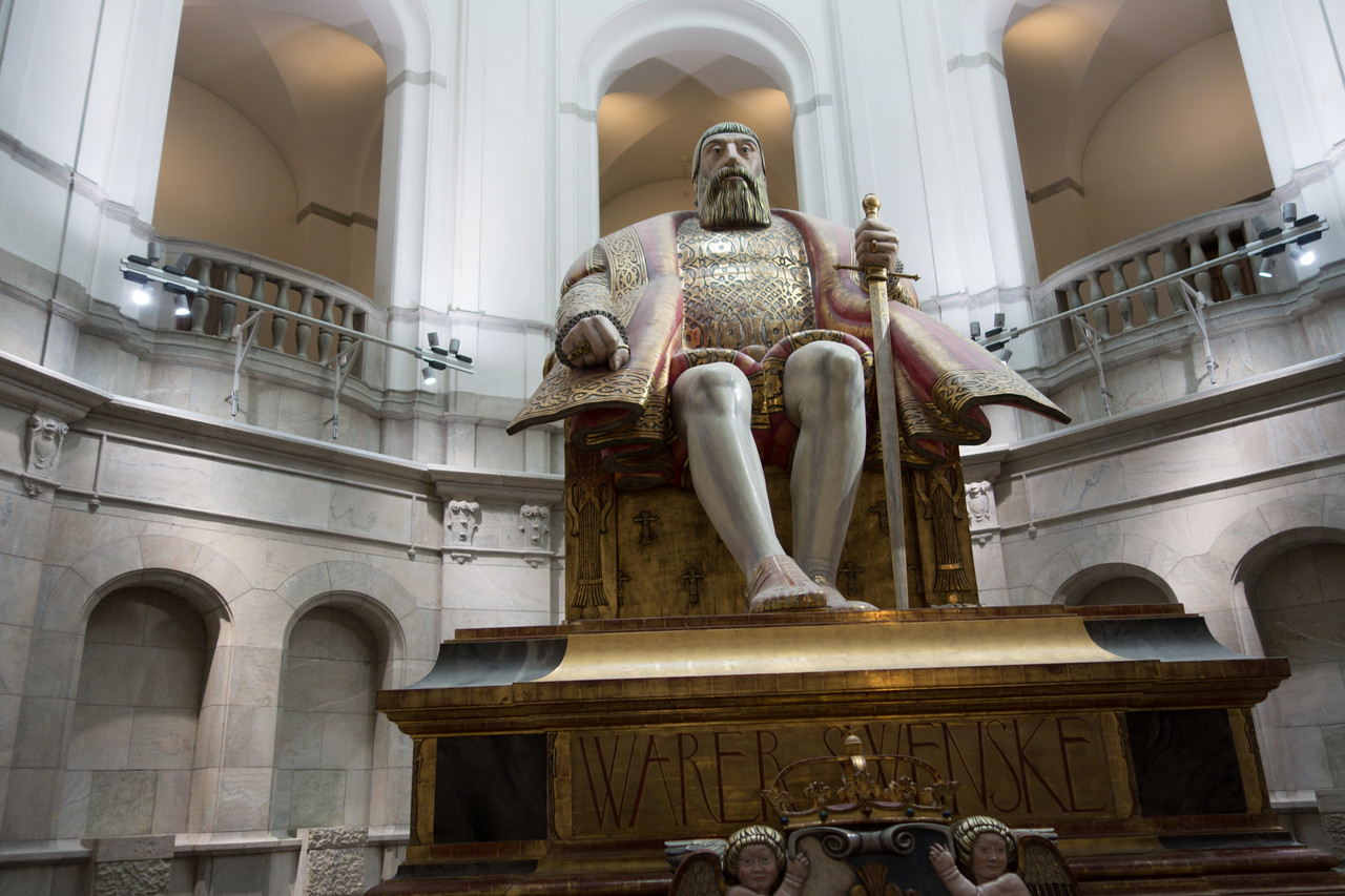 King Gustav Vasa--he greets you as you walk into the Nordic Museum.