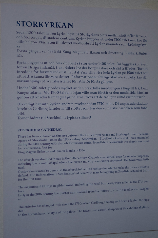 More about the history of the church. (Kyrka is Swedish for church.)