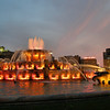 Buckingham Fountain as the sun sets...