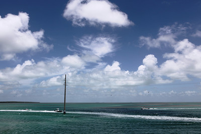 Not bad for going 65 mph.  The drive to the Keys is money. These boats were hugging the power lines to avoid the reef.