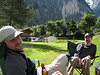 Mike and Lars kickin' back in Lauterbrunnen, Switzerland at our campground.