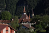Churches in Early Morning in Interlaken from the Artos Hotel