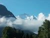 The Jungfrau from Interlaken in the Morning, with Clouds