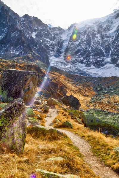 Aiguille du midi: Many hiking trails in the area.  You could do worse for a nice hike!