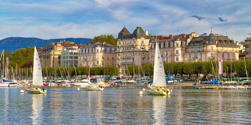 Geneva: Many sailboats dotted the shores of Geneva.