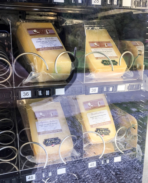 Lauterbrunnen Valley: On my walk I came across a vending machine by a farm.  Instead of selling Cokes, they were selling items such as cheese, eggs, sausage, etc...  Pretty cool!