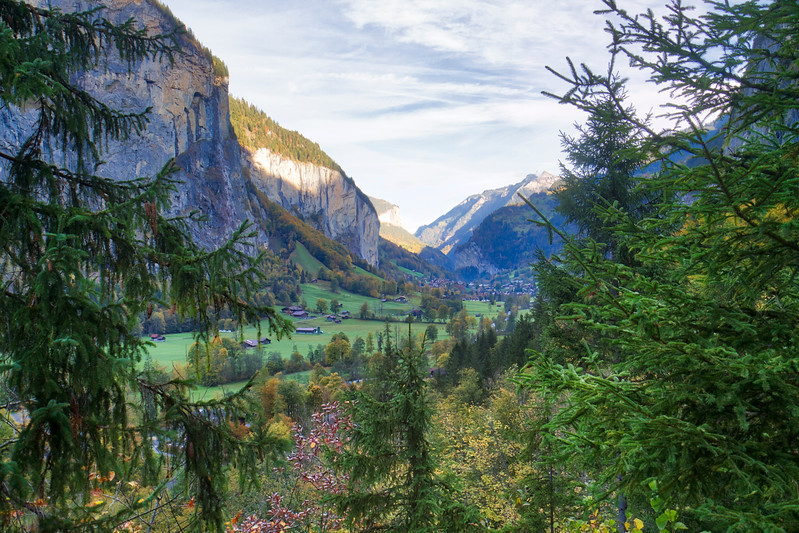 Lauterbrunnen Valley: I spent some time walking through the valley below Mürren before I headed to my next stop.