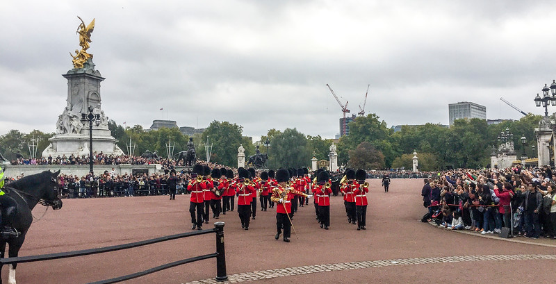 London: The changing of the guard.  People freaked out for this.  It was PACKED!