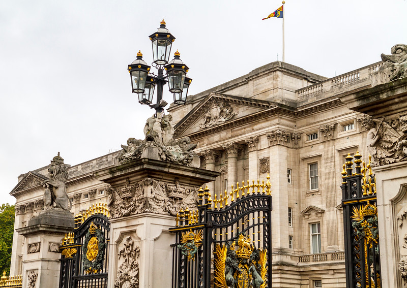 London: Buckingham Palace.  I had a long layover and happened across a fun event...